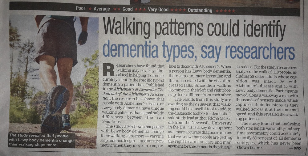 GAIT INDICATES DEMENTIA