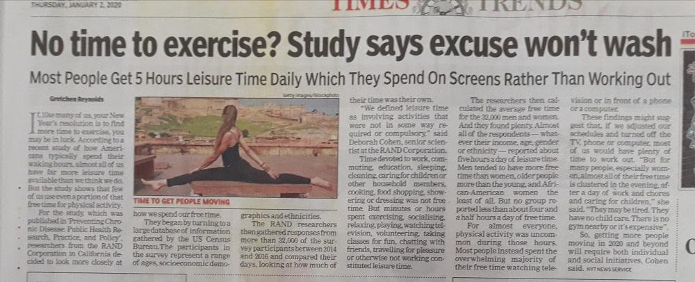 NO EXCUSE TO EXERCISES