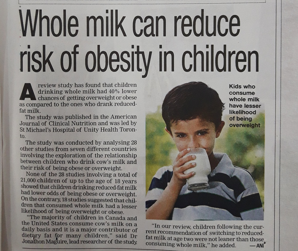 MILK REDUCES OBESITY